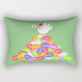Rich Cucco Green Rectangular Pillow