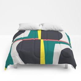 Modern Geometric 65 Green Comforters