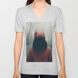 Face into the Abyss Unisex V-Neck