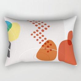 Shape & Hue Series No. 3 – Yellow, Orange & Blue Modern Abstract Rectangular Pillow