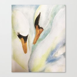 On Swan lake Canvas Print