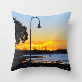 Wynnum Sunset Throw Pillow