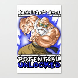 Training to have potential unlocked - Master Roshi Canvas Print