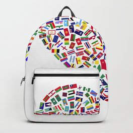 Heart flags countries Backpack