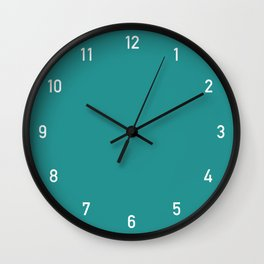 Numbers Clock - Turquoise Wall Clock