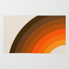 Retro Golden Rainbow - Left Side Rug