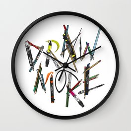 Draw More (Color) Wall Clock