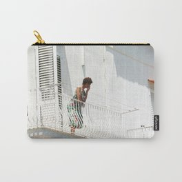 Lady on Balcony Carry-All Pouch