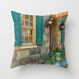 A Victorian Tea Room Throw Pillow