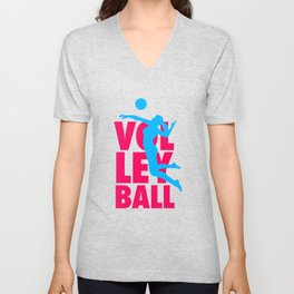 Volleyball Unisex V-Neck