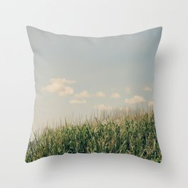 Campos de maíz Throw Pillow