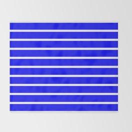Horizontal Lines (White/Blue) Throw Blanket