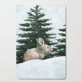 Winter Bunny Cutting Board