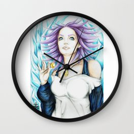Shirayuki Mizore Fan Art Wall Clock