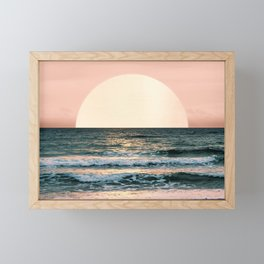 Summer Sunset Framed Mini Art Print