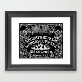 Ouija Board Black Framed Art Print