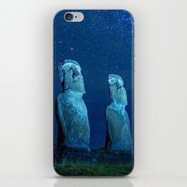 Easter Island by night iPhone Skin