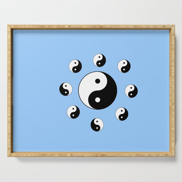 Yin and Yang 17- Tao,Zen,Taoism,Dao,Harmony,religion,buddhism,buddhist,taijitu,taiji,taoist,china Serving Tray