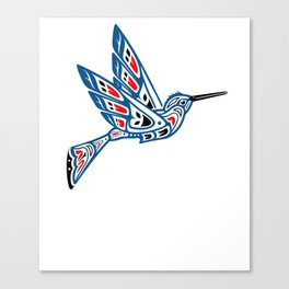 Hummingbird Pacific Northwest Native American Indian Style Art Canvas Print