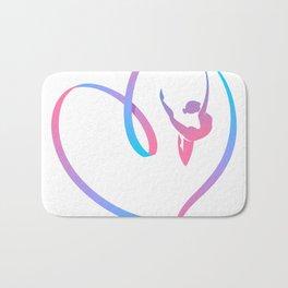 Rhythm of a Gymnast's Heart Bath Mat