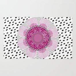 Pinky flower Rug