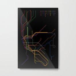 NYC Subway Diagram Metal Print