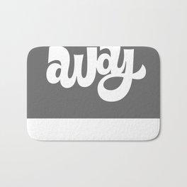 home/away ambigram Bath Mat