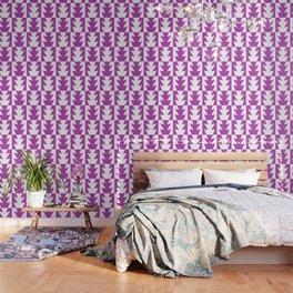 Art Deco Jagged Edge Pattern Magenta Wallpaper