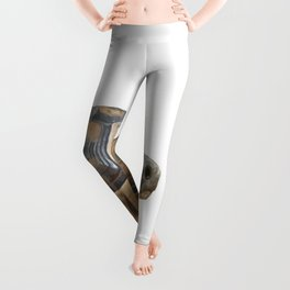 Sideview of A Walking Turkish Tortoise Isolated Leggings
