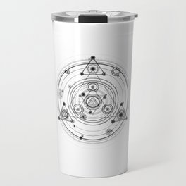 Sacred geometry magic circles Travel Mug