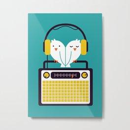 Radio Mode Love Metal Print