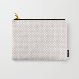 Bridal Blush and White Polka Dots Carry-All Pouch