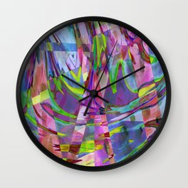 Floating In A Sea Of Confetti Wall Clock