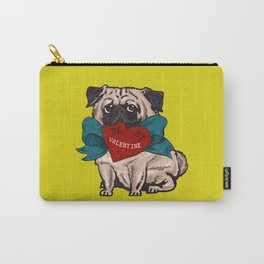Be My Valentine Pug Carry-All Pouch