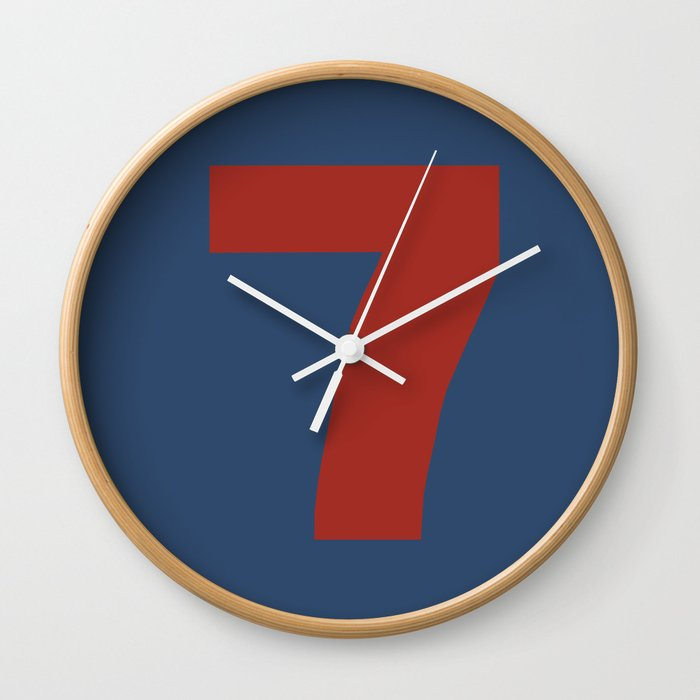 Number 7 Wall Clock