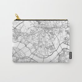 Seoul White Map Carry-All Pouch