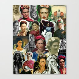 Frida Kahlo Collage Canvas Print