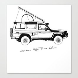 Limted Edition 4xOverland Troopy Canvas Print