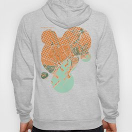 Barcelona city map orange Hoody