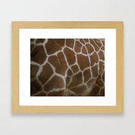 Giraffe print Framed Art Print