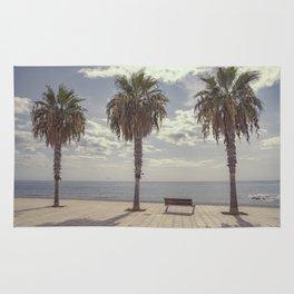 Palm trees in Palma de Mallorca Rug