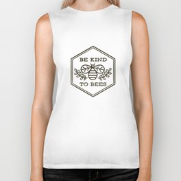 Be Kind To Bees Biker Tank