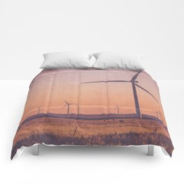 Southwest Windmills Route 66 Comforters