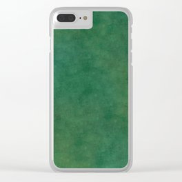 """""""Porstroke, Teal Shade Pattern"""" Clear iPhone Case"""