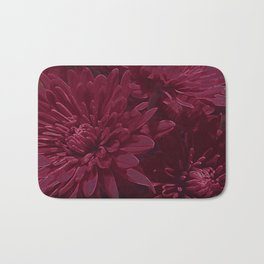 Burgundy Chrysanthemums Bath Mat