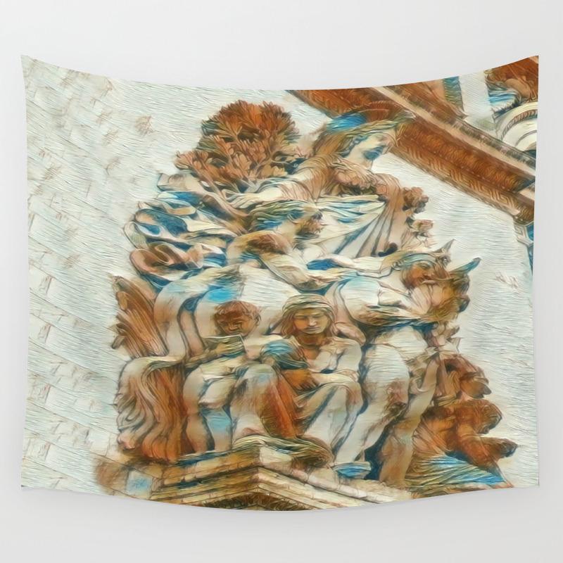 Sculpture - Paris France - Arc De Triomphe Wall Tapestry by Judypalkimas TPS8339522