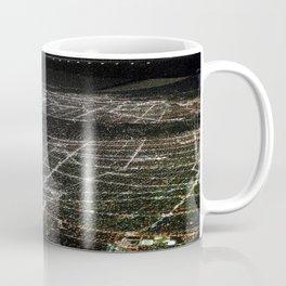 Night Flight out of Los Angeles Grey Coffee Mug