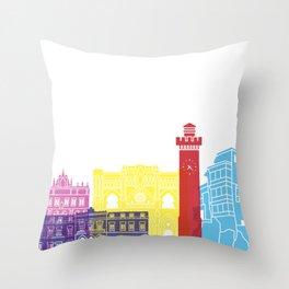 Cuenca skyline pop Throw Pillow