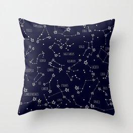 Space horoscop Throw Pillow