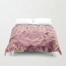Some People Grumble - Pink Rose Pattern - Roses Duvet Cover
